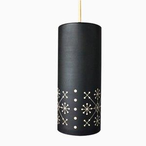 Lámparas colgantes vintage con motivo de copo de nieve de Hillebrand Lighting. Juego de 2