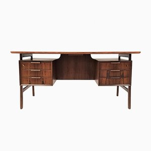 Vintage Rosewood Model 75 Desk by Omann, 1960s