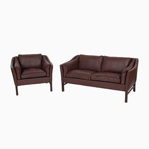 Dänisches Vintage Modell 75 2-Sitzer Sofa & Sessel von Grandt Design, 2er Set