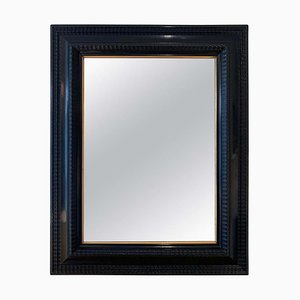 Flemish Style Ebonised Ripple Frame Mirror, 1950s