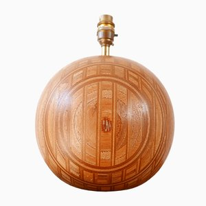 Mid-Century Danish Wooden Globe Table Lamp from Dyrlund, 1960s