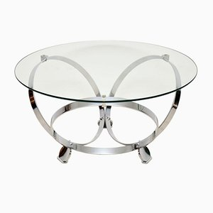 Chrome & Glass Coffee Table by Knut Hesterberg, 1970s