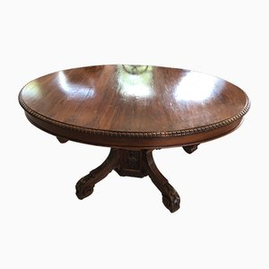 Antique Renaissance Oval Dining Table