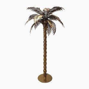 Lampadaire Palm Vintage en Laiton