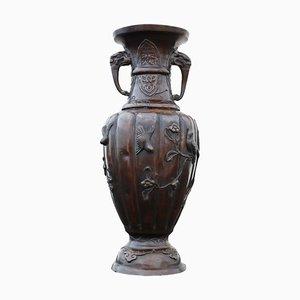 Japanische Bronze Vase aus der Meiji Periode