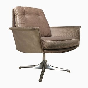 German Mohair and Aluminum Easy Chair by Horst Brüning for Cor, 1960s