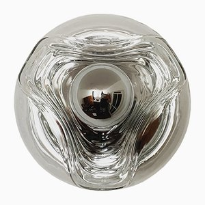 Glass Wave Sconce by Koch & Lowy for Peill & Putzler, 1960s