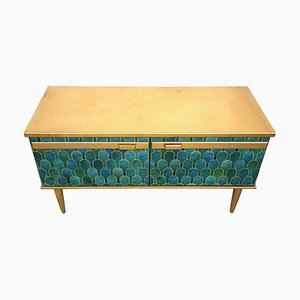 Mid-Century Sideboard with Gold and Green Bethan Grey Decoupage from Portwood