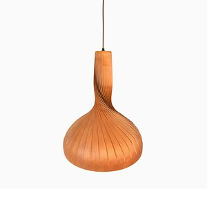 Mid-Century Deckenlampe aus Holz von Hans-Agne Jakobsson für Hans-Agne Jakobsson AB Markaryd, 1960er
