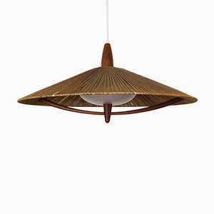Large Raffia Pendant Lamp from Temde, 1960s