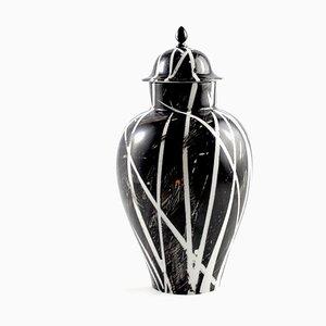 Black Meissen Vase frolm Mari JJ Design