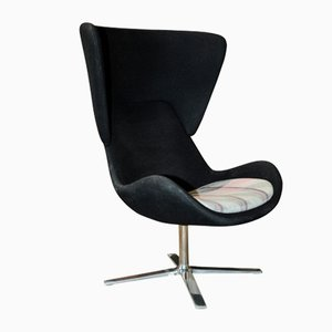 Vintage Steel High Back Swivel Armchair from Orangebox
