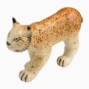 Stoneware Lynx by Lisa Larson for Gustavsberg, 1975