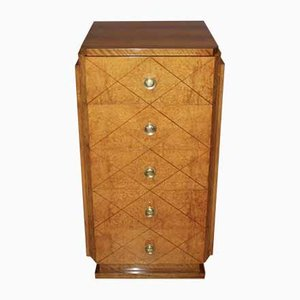 Art Deco Walnut and Ash Chest of Drawers, 1930s