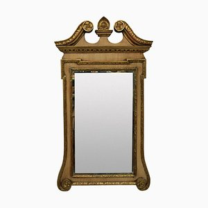 Antique George III Style Mahogany and Giltwood Mirror