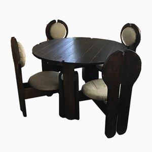 Chaises de Salon et Table Vintage par Szeleczky, 1960s, Set de 5