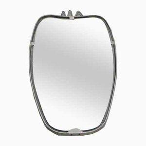 Vintage Mirror in Aluminium Frame, 1960s
