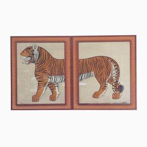 Grandes Affiches Batik Tiger, 1970s, Set de 2