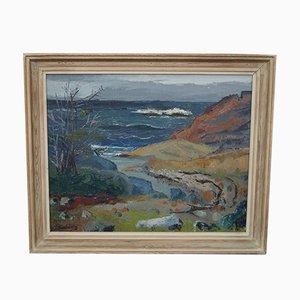 Pintura al óleo sueca moderna de Greta Turen, 1952