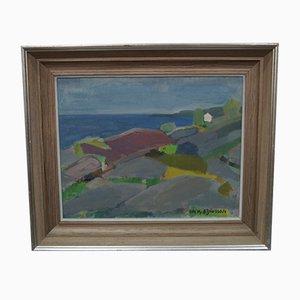 Pintura al óleo sueca moderna de Anders A. Jonsson, años 60