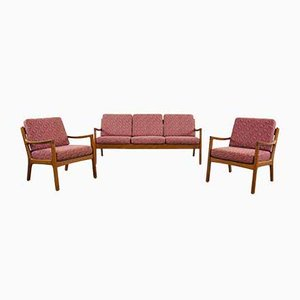 Teak Living Room Set by Ole Wanscher for France & Søn / France & Daverkosen, Denmark, 1960s, Set of 3