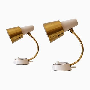 Mid-Century Modern German Table or Wall Lamps, 1950s, Set of 2