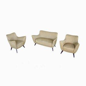 Mid-Century Model Pearl Living Room Set by Gulia Veronesi for ISA Bergamo, Set of 3