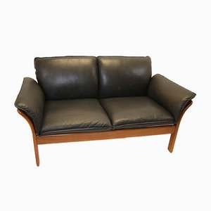 Vintage Leather 2-Seat Sofa from Dreipunkt, 1970s