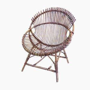 Mid-Century Bamboo Lounge Chair