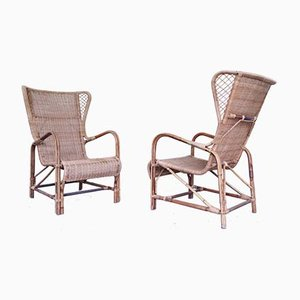 Lounge Chairs by Eugenia Alberti Reggio for Ciceri, 1950s, Set of 2