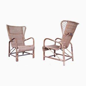 Lounge Chairs by Eugenia Alberti Reggio for Ciceri, 1950s, Set of 2