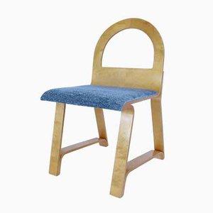 Chaises de Salon Vintage en Bois et Tissu, Set de 6