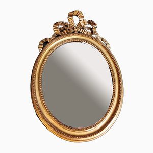 French Louis XVI Wooden Frame and Gilded Gold Leaf Mirror