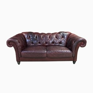 Large Leather Chesterfield Sofa, 1970s