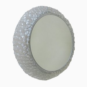 Plexiglass Illuminated Round Wall Mirror from Hillebrand, 1970s