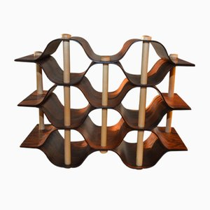 Rosewood Wine Rack by Torsten Johansson for Formträ AB, 1963