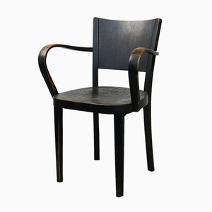 Black Bentwood B47 Armchair from Thonet, 1920s