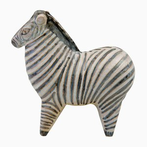 Large Stoneware Zoo Zesty Zebra by Lisa Larson for Gustavsberg, 1957