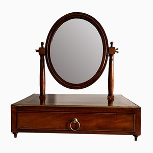 Antique Louis XVI - XVIII Mahogany Table Mirror