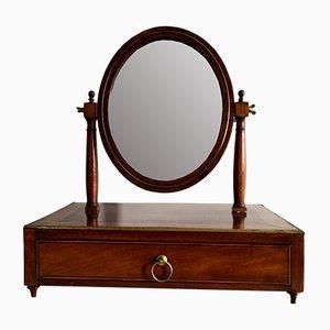 Espejo de mesa Louis XVI antiguo XVIII de caoba