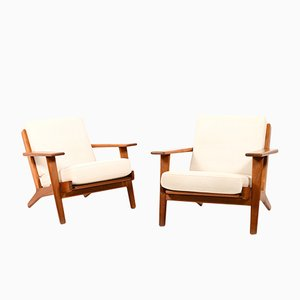 Teak GE-290 Lounge Chairs by Hans J. Wegner for Getama, 1960s, Set of 2