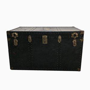 Grande Malle Antique avec Étiquettes de Voyage de Trunk Co, Etats-Unis