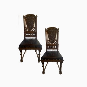 Dining Chairs, 1930s, Set of 12