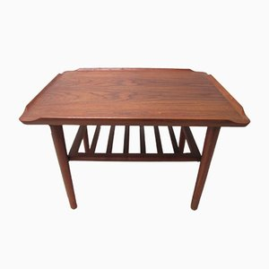 Danish Teak Coffee Table by Holger Georg Jensen for Kubus, 1960s