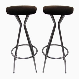 Mid-Century Barstools, 1950s, Set of 2