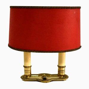 Antike Bronze Tischlampe