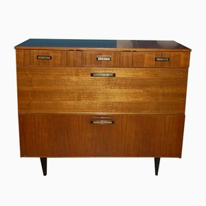 Mid-Century Shoe Cabinet with Drawers, 1960s