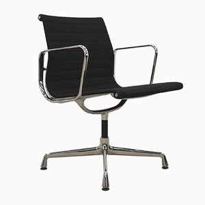 Schwarzer Hopsak EA108 Alu Bürostuhl von Charles & Ray Eames für Vitra, 2000er