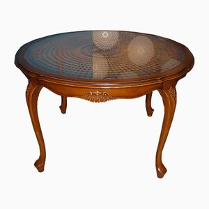 Mid-Century Chippendale Style Round Coffee Table, 1960s