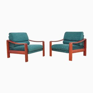Vintage Teak Armchairs, 1970s, Set of 2